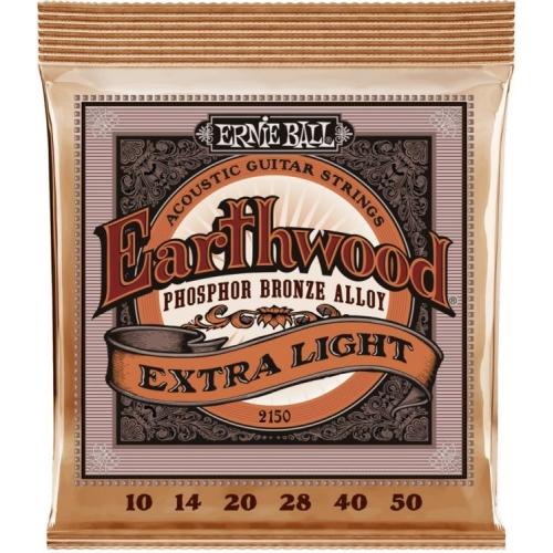 Ernie Ball P02150 | Earthwood Extra Light Phosphor Bronze .10-.50 Akustik Gitar Teli